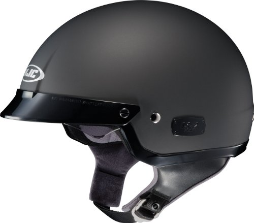 HJC IS-2 Motorcycle Half-Helmet (Matte Black, Large)