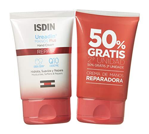 ISDIN Ureadin Manos Crema de manos reparadora, Duplo 2 unidades 50+50ml, Repara, hidrata, y suaviza