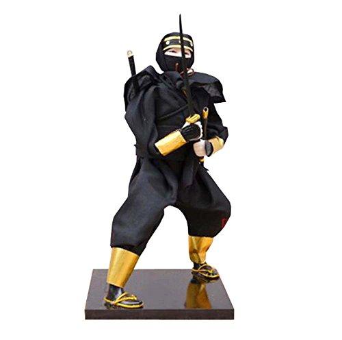 Black Temptation 12 'Bambole Samurai Giapponesi / Bambola Ninja Warrior / Regali / Decor / Ornamenti Lzakaya - I