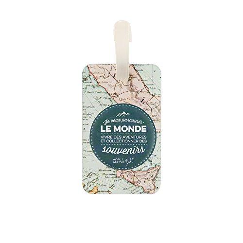 Mr Wonderful Etichetta per valigie, multicolore (Multicolore) - WOA03389