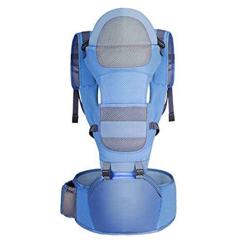 RSTJ-Sjef Portabebés Niños,Cómodo Mochila Porta Bebé,Fácil De Cargar Portabebés para Bebés,DELE A Su Bebé Una Posición Cómoda para Sentarse,Azul