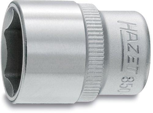 Hazet 850X-14 Douille à 6 pans carré creux 6,3 mm profil traction à 6 pans extérieurs Taille 14 longueur 25 mm