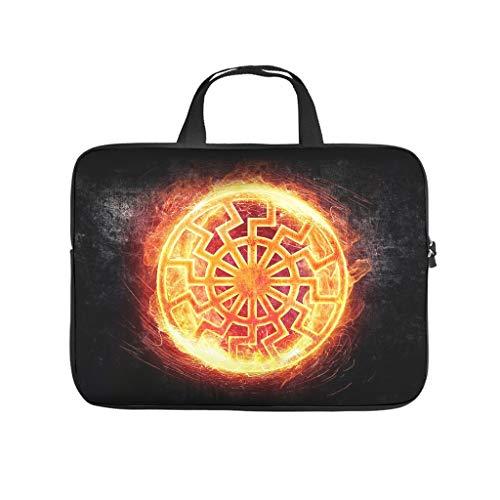 Standard Sonne Viking Nordische Mythologie Laptoptaschen Klassisch Kratzfest - Tablet-Tasche Geeignet für Geschäftsreisen White 15 Zoll