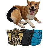TOPSOSO Pañales Lavables para Perros, machos y Hembras (Paquete de 3) Pañales Reutilizables sin Fugas para Mascotas, Muy absorbentes y cómodos Pañales de Bulldog Francés Envoltura de pañales (M)