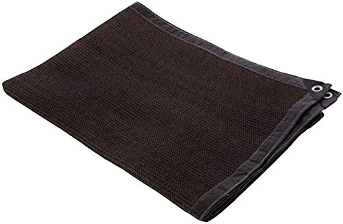 WJJ Toldos Exterior Toldo Camuflaje Tela de Sombra para el encriptación marrón del 95% Espesar Flores Succulents Jardinería Sombreado Red, 24 tamaños (Color : Brown, Size : 6 * 7m)