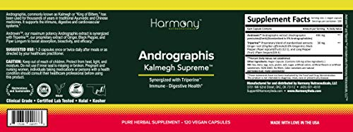 Kalmegh - Andrographis - Highest potency and maximum bio-availability!! - Dr. Gumman's Clinical Grade for Immunity Support