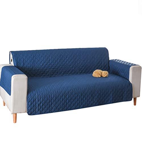 Jitong Sofabezüge mit Riemen rutschfest Hussen für Sofas Schonbezug Möbelschutz für Haustiere Universelle Couch Überzug 1/2/3 Sitzer (Navy blau, 190 * 195cm)