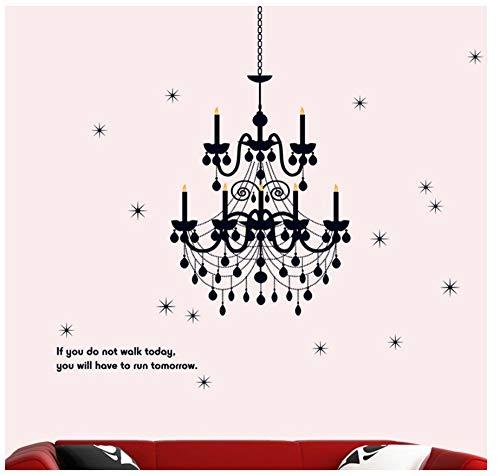 Zwarte Plafondlamp Muursticker Huis Sticker Verwijderbare Woonkamer Behang Slaapkamer Keuken Art Foto PVC Muren Sticks Venster Deur Decoratie