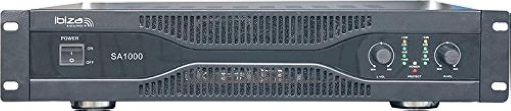 Ibiza SA1000 - Amplificador de sonido 2 x 500 W