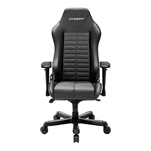 DXRacer OH/IS133/N Black Iron Series Gaming Chair Ergonomic High Backrest Office Computer Chair Esports Chair Swivel Tilt and Recline with Headrest and Lumbar Cushion + Warranty