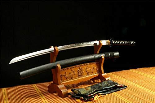 GLW Kanata Hand Forge Folded Steel Clay Tempered Japanese Samurai Sword Katana Sharp Blade