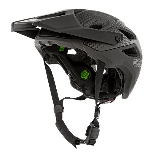 O'NEAL   Casco Enduro Trail Downhill   Forro Que Absorbe el Sudor, Cumple con la Norma de Seguridad EN1078   Casco Pike IPX® Stars V.22   Adulto   Negro Gris   Talla S/M
