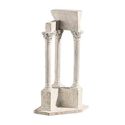 Design Toscano Roman Forum Temple of Castor and Pollux Straight Column in Stone