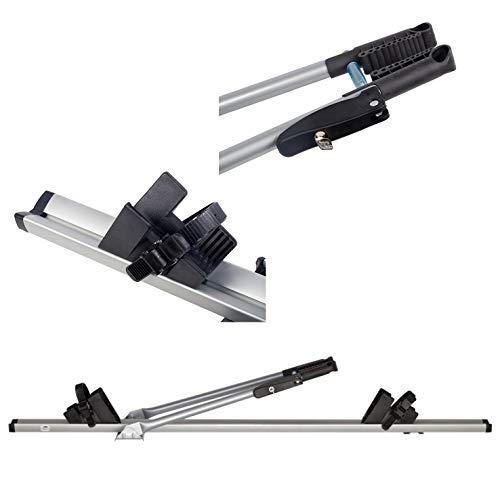 AHAKA ACOR Universel Fahrradhalter Dach-Fahrradträger Fahrradträger für Dachmontage Abschließbar - Montage mit Befestigungsplättchen und Schrauben oder T-Nut Steinen.