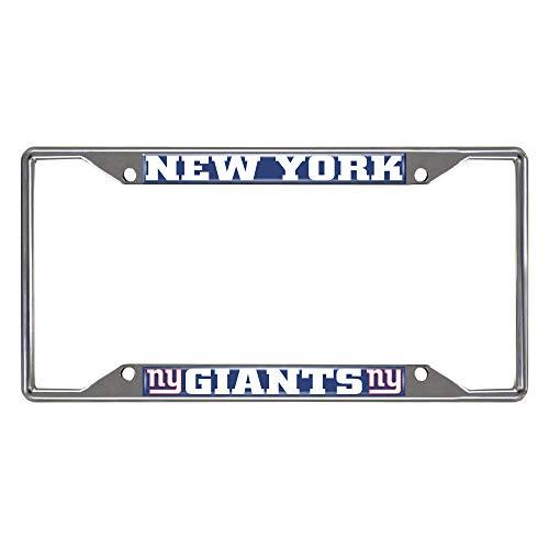 NFL New York Giants Chrome License Plate Frame, Chrome, 6.25' x 12.25'