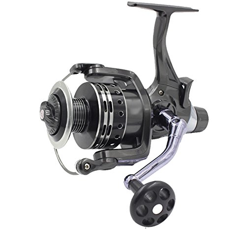 Isafish Spinning Fishing Reels with Front & Rear Double Drag Brake System for Left or Right Hand,...