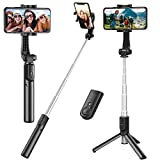 Best Selfie Sticks - Selfie Stick, Extendable Selfie Stick Tripod with Detachable Review