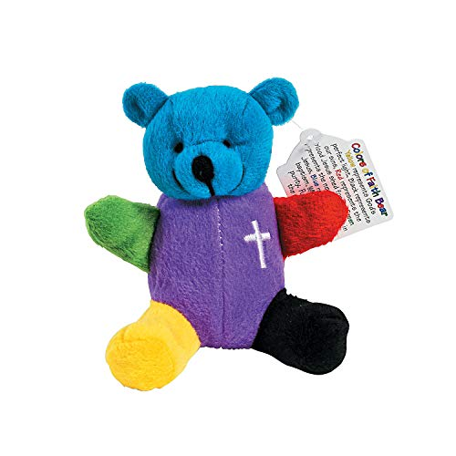 Fun Express Rainbow Faith Plush Bears - Toys - 12 Pieces