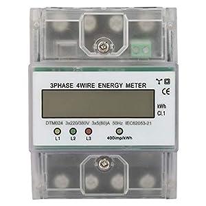 Medidor de potencia eléctrico digital de consumo de energía de 220 / 380V 5-80A El medidor trifásico de 4P KWh con LCD digital se usa ampliamente en los sistemas de medición de potencia.
