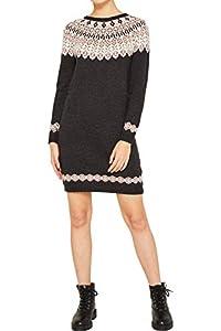 ESPRIT Damen 119EE1E002 Kleid, Grau (Anthracite 5 014), X-Large (Herstellergröße: XL)