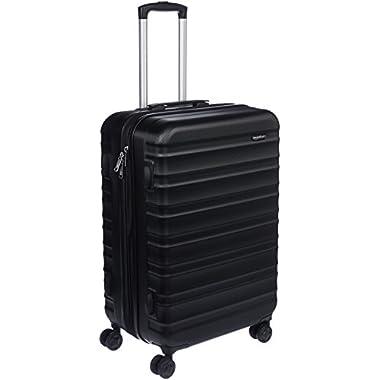 AmazonBasics Hardside Spinner Luggage - 24-Inch, Black