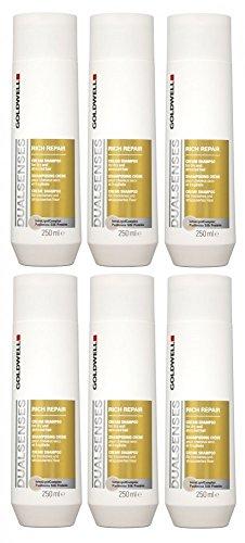 Goldwell Rich Repair Lot de 6 shampoings crème double senses FadeStopFormula GW 250 ml
