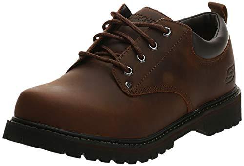 Skechers Men s Tom Cats Utility Shoe, Dark Brown, 10.5 M US