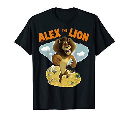 Madagascar Alex The Lion Desert Text Poster T-Shirt