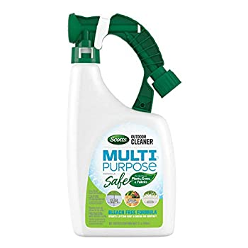 Scotts Outdoor Cleaner Multi Purpose Formula  Ready-to-Spray Bleach-Free Use on Decks Siding Stone and Patio Furniture 32 oz.