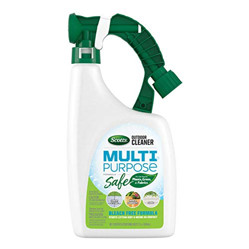 Scotts Outdoor Cleaner Multi Purpose Formula: Ready-to-Spray, Bleach-Free, Use on Decks, Siding, Stone and Patio Furniture, 32 oz.