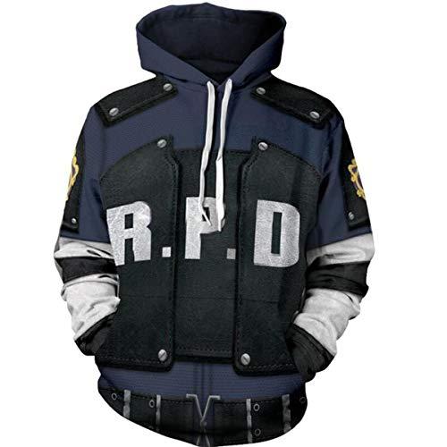 NSOKing Resident Evil 2 sudaderas con capucha Leon Scott Kennedy chamarra con impresión 3D sudadera con…