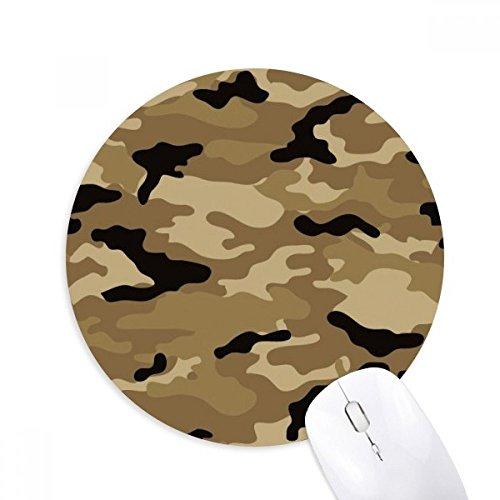 DIYthinker Goma Mousepad Oficina del juego alfombrilla de ratón Regalo de camuflaje Arte grano Ilustración Modelo redondo antideslizante