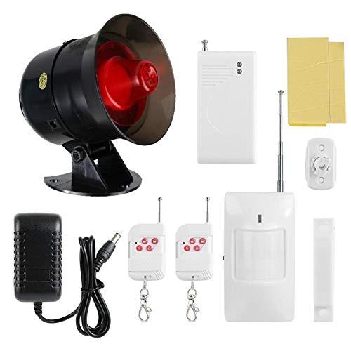 Sensor de movimiento Alarma Alerta de seguridad para el hogar Sensor IR Detector de movimiento antirrobo inalámbrico Monitor de alarma 100-240V para tiendas Almacenes Casas((Enchufe de la UE))