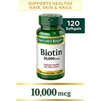 Nature's Bounty Biotin Supplement, 120 Softgels