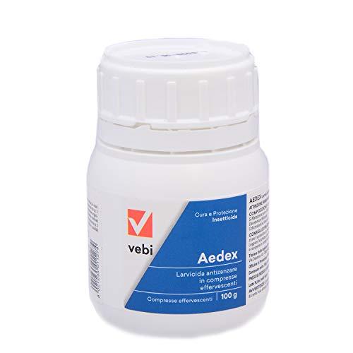 Vebi Aedex Insetticida Larvicida Antizanzare- Barattolo 50 Compresse - 100g