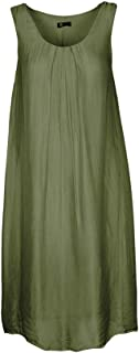 Made in Italy - Women's Pleated Sleeveless Dress