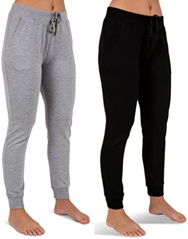 Sexy Basics Women s 2 Pack Yoga Activewear Jogger Capri Cropped Sweat Lounge Pants 2 Pack Black product image