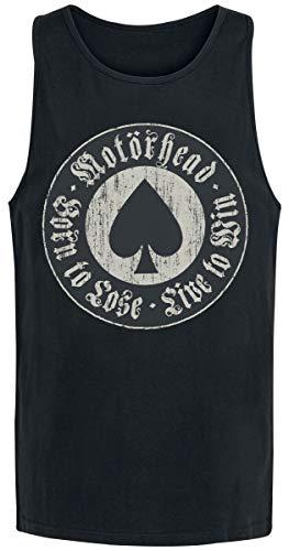 Motörhead Born to Lose Männer Tank-Top schwarz M 100% Baumwolle Band-Merch, Bands, Nachhaltigkeit