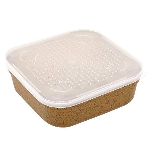 Edward Jackson Fischen-Gerät-Box Plastikfischen Köder Fall Worm Earthworm Aufbewahrungsbehälter Angeln Zubehör Angelzubehör Angelwerkzeuge (Size : L)