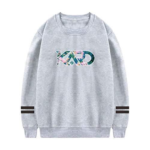 HTDays 女性の KARD ラウンドネックセーター、フード、プルオーバー L