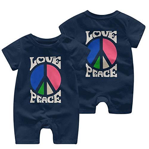 RROOT Hippie Love, Peace Signs Body à manches courtes pour bébé garçon 0-24 mois - - 18 mois