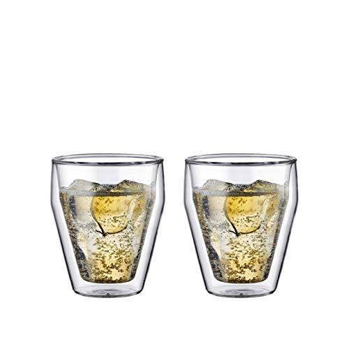 Bodum TITLIS 2-teiliges Gläser-Set (Doppelwandig, Isoliert, Spülmaschinengeeignet, 0,25 liters) transparent