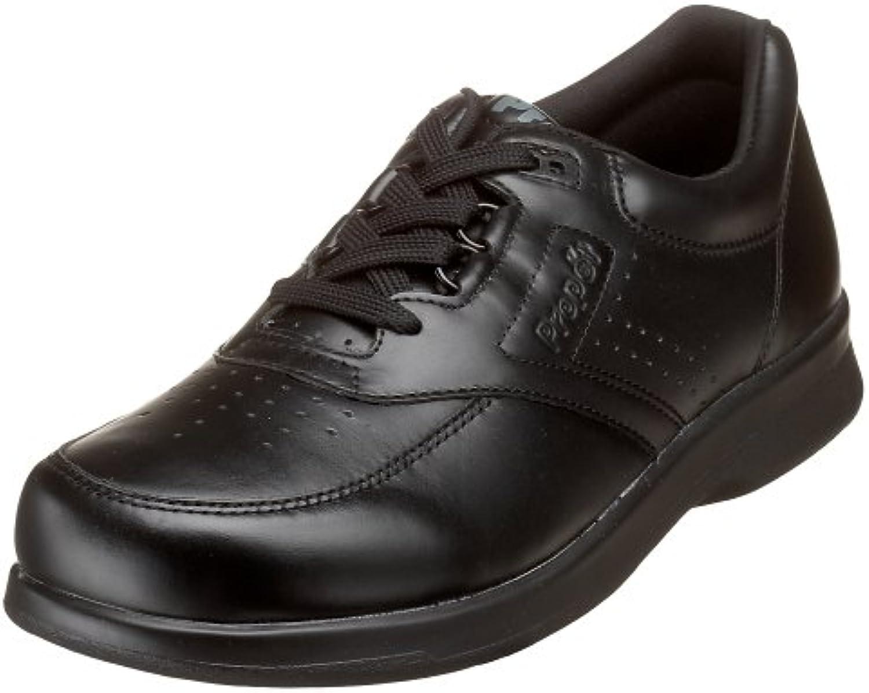 Propet Men's M3910 Vista Walker Oxford,Black Smooth,9.5 M (US Men's 9.5 D)