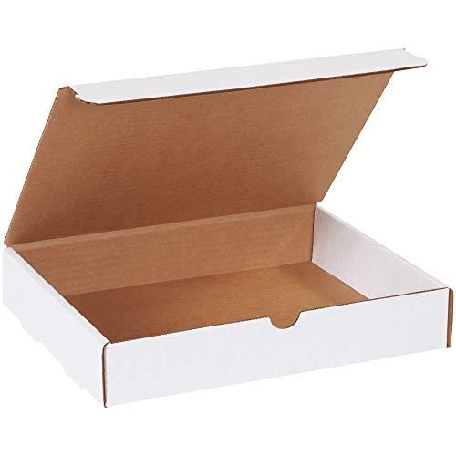 """BOX USA BM1182 11 1/8""""L x 8 3/4""""W x 2""""H, White (Pack of 50)"""