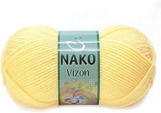 Nako VIZON Knitthing Hand Yarn (Yellow)