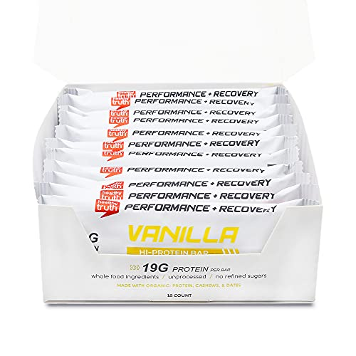 Organic Raw Sprouted Hi-Protein Whole Food Bars - Vanilla (12-pack)