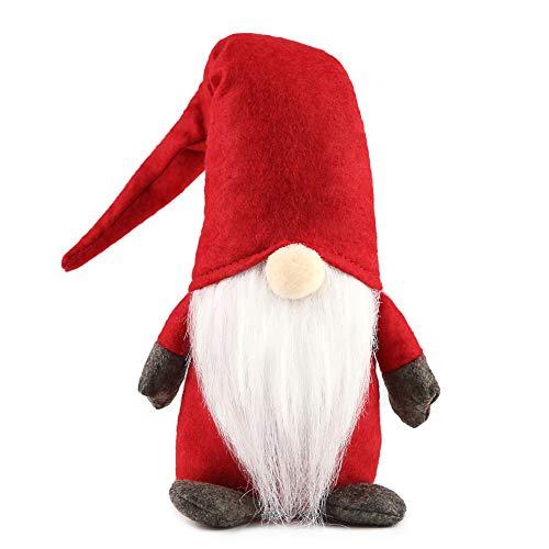 1Tomte Swedish Plush Santa Gnome, Swedish Gnomes Ornaments Handmade Scandinavian Tomte Santa Scandinavian Gnome Elf Figurines for Christmas Santa Decoration Table Holiday Gnome Decor