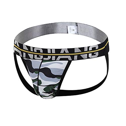 YXX Hombre Ropa Interior U Convex Cómodo Slip Tanga Bolsa De Algodón con Cintura Suave para Deportes Y Tiempo Libre 2 pcs,Gris,XL