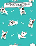 Composition Notebook: Bull Terrier Dogs Wide Ruled, 8.5x11, 120 Pages: Student Writing Journal, Elementary School Supplies