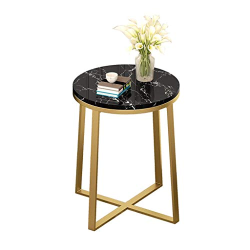 Daily Equipment Sofa Side Tables Best Choice Products 40x60cm Modern Living Room Bedroom Round Accent Side Coffee Table w/Metal Frame Faux Marble Top